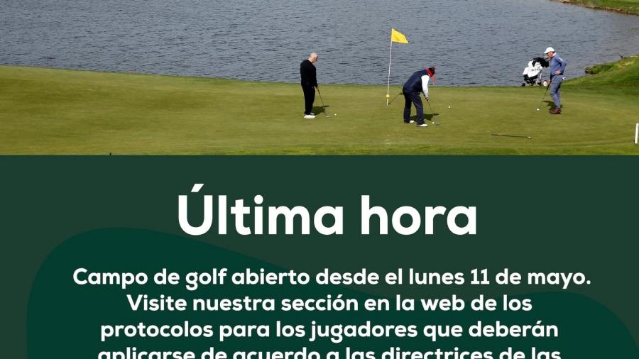 Protocolo de Apertura de Deporte del Golf, Covid-19