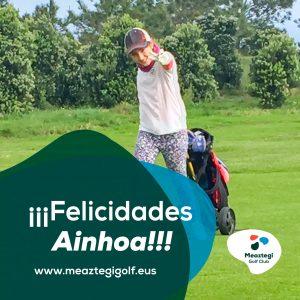 Ainhoa Jauregui Campeona Infantil de Bizkaia 2020