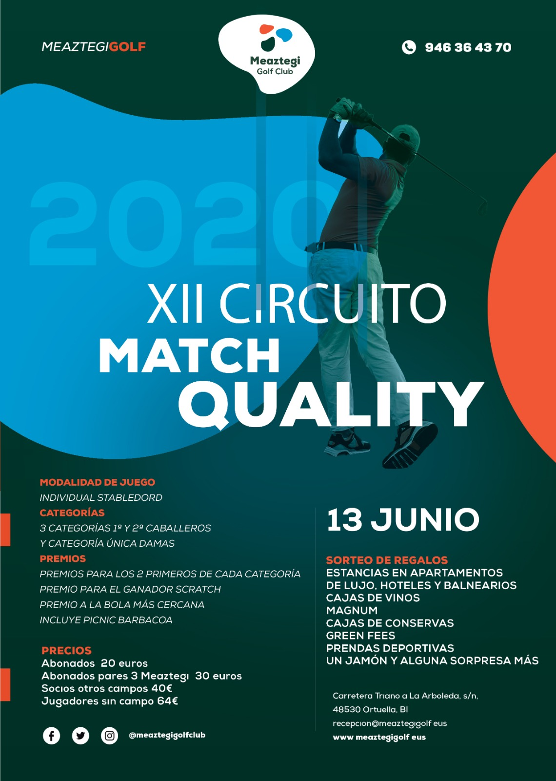 Clasificaciones Torneo Match Quality Golf / 12 de septiembre 2020